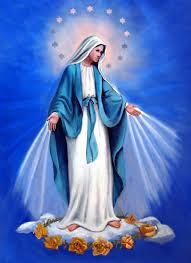 catholic family faith why does the blessed virgin mary wear blue